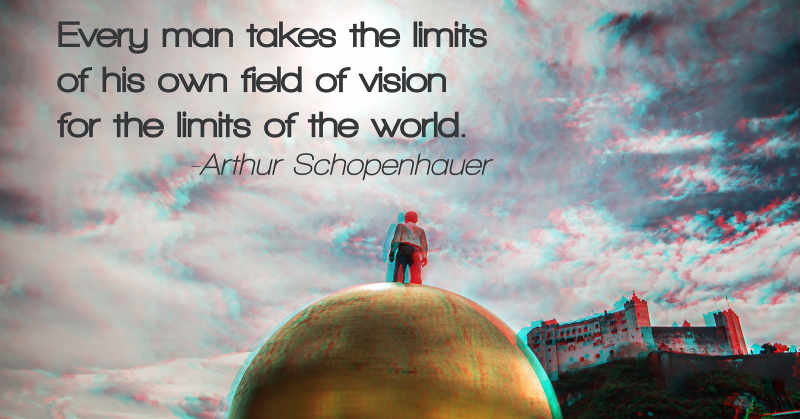Every man takes the limits of his vision_3D_LinkedIn